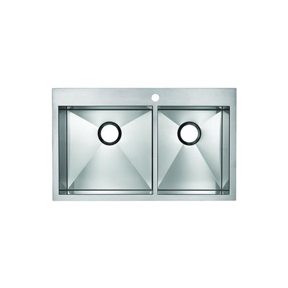 Shop Here Blanco Precision MicroEdge B516195 Flush Mount Double Bowl ...