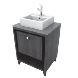 Porcher 86920-01.610 24-Inch Solutions Shadowbox Vanity, Wenge