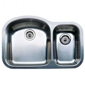 Blanco Wave Plus 440169 Undermount Double Bowl Stainless Steel Sink