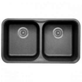 "Blanco B446006 ""Meridian"" Undermount Double Bowl Kitchen Sink Anthracite"