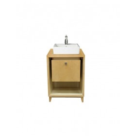 Porcher 86920 01.602 24 Inch Solutions Shadowbox Vanity, Maple