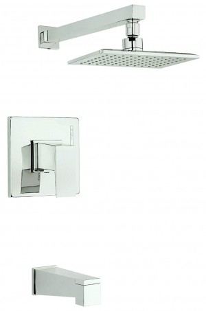 Danze D500062PNVT Mid-Town Single Handle Tub and Shower Trim Kit, 2.5 GPM, Valve Not Included Polished Nickel