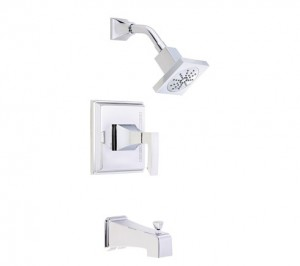 Danze D502036T Logan Square Single Handle Tub and Shower Trim Kit with Efficient Flow Showerhead, Chrome