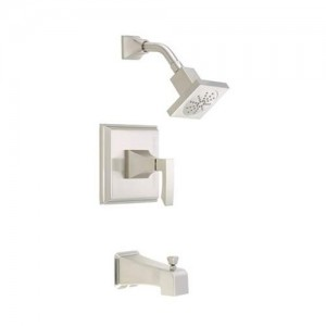 Danze Logan Square Tub and Shower Faucet D500036BNT Brushed Nickel
