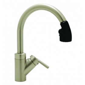 Blanco 440617 Rados Kitchen Faucet with Pull Down Spray, Satin Nickel/Black