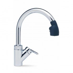 Blanco 440619 Rados Single Handle Pull-Down Spray Kitchen Faucet 2.2 GPM Chrome/black