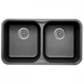 "Blanco B446006 ""Meridian"" Undermount Double Bowl Kitchen Sink Anthracite"