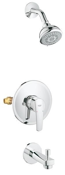 Grohe Start Pressure Balance Valve Bathtub/Shower Combo Faucet
