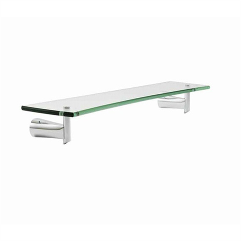 American Standard Green Tea 24-Inch Glass Shelf with Clear Tempered Glass, Polished Chrome