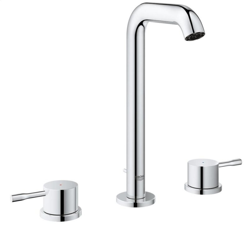 GROHE Essence Chrome 2-handle Widespread WaterSense Bathroom Sink Faucet with Drain