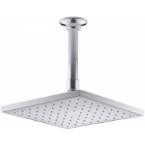 KOHLER K-13695-CP 8-Inch Contemporary Square Rain Showerhead, Polished Chrome