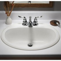 American Standard 0222000.021 Bathroom Sink, Bone.