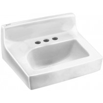 American Standard 0373.950.020 Penlyn Wall-Hung Lavatory for Concealed Arms Less Overflow, White