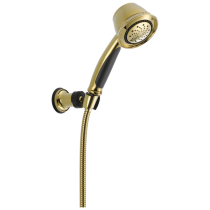 Delta 59515-PB Premium 5-Setting Adjustable Wall Mount Hand Shower, Polished Brass