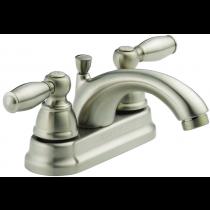 Delta Faucet P299675LF-BN Peerless Apex 2 Handle Lavatory Faucet, Brushed Nickel