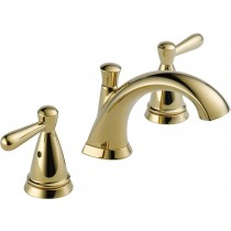 Delta P99140LF-PB Peerless Two Handle Widespread Bathroom Faucet, Polished Brass
