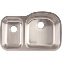 Franke FCU116 7 inch Deep Stainless Steel Offset Undermount Kitchen Sink