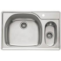 "Franke PCX660LH Prestige 33"" Stainless Steel Left Hand Double Bowl Kitchen Sink"