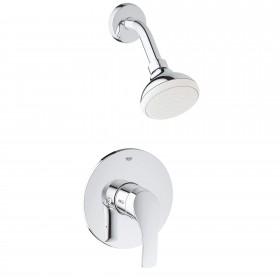 Grohe 3501420A Eurosmart Pressure Balance Valve Bathtub/Shower Combo Faucet, Chrome