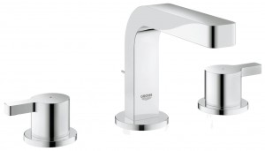 Grohe 20304000 Lineare 3-Hole Basin Mixer Tap with High Spout