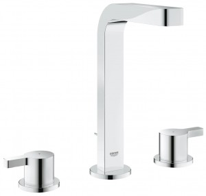 Grohe Lineare 3-hole basin mixer M-Size in Chrome