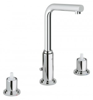 Grohe Atrio 8″ Widespread Two-Handle Bathroom Faucet M-Size in Starlight Chrome