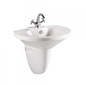 Leno pl24416 Pedestal Wall Hung Sink Single Faucet Hole