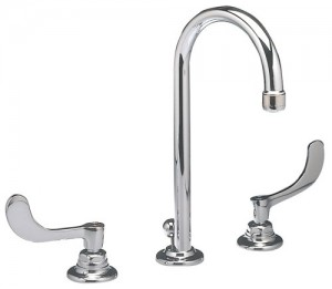 American Standard 6530.170.002 Monterrey Widespread Gooseneck Lavatory Faucet, Chrome, two handle faucet