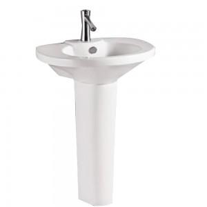 Leno pl24439 Pedestal Sink Single Faucet Hole