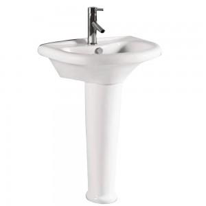 Leno pl24891 Pedestal Sink Single Faucet Hole