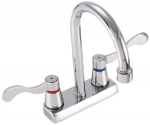 American Standard 7400172V.002 Heritage Double#Handle Centerset Lavatory Faucet with Aerator, Chrome