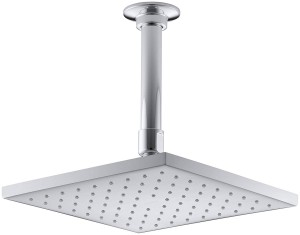 KOHLER K-13695-CP 8-Inch Contemporary Square Rain Showerhead, Polished Chrome