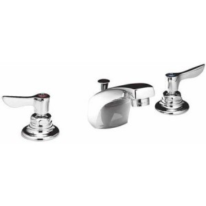 American Standard 6501.145.002 Monterrey Widespread 0.5 GPM Faucet with Lever Handles and Metal Pop-Up Drain, Chrome