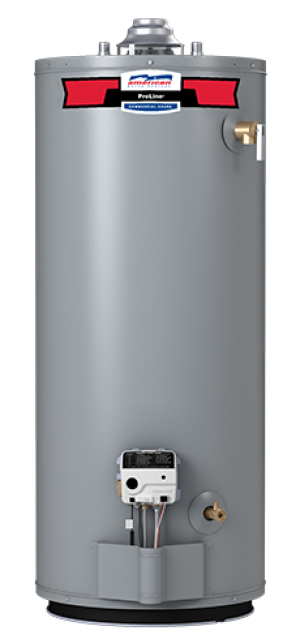 American Water Heater FVG62-50T65-4NOV - 50 Gallon 65000 BTU Flame Guard Standard Tall Natural Gas Water Heater - 6 Year Warranty