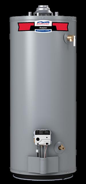 American Water Heater FVG62-50T65-4NOV - 50 Gallon 65000 BTU Flame Guard Standard Tall Natural Gas Water Heater - 6 Year Warranty