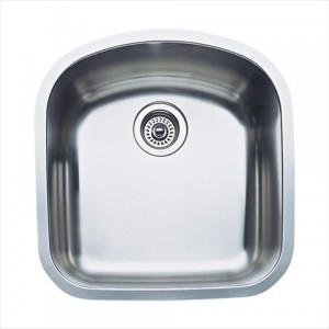 Blanco 440164 Blanco Elements Individual Undermounts Wave Plus Series Kitchen Sink, Satin