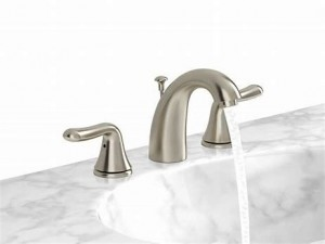 American Standard 3885CASF Cadet Widespread (8-inch) 2-Handle High Arc Bathroom Faucet in Brushed Nickel with Lever Handles
