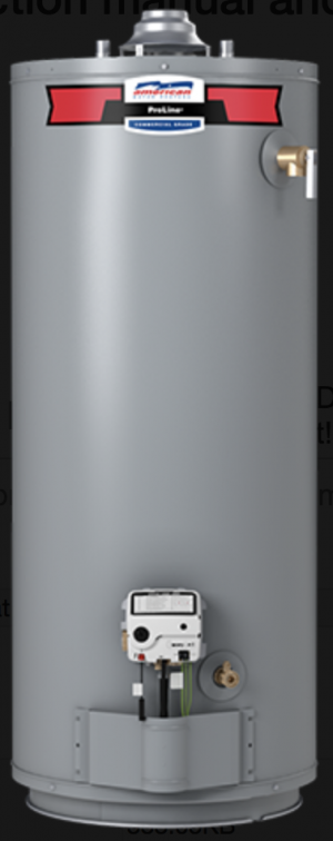 AMERICAN WATER HEATER G10240S40 400 NATURAL GAS 40 gal water heater