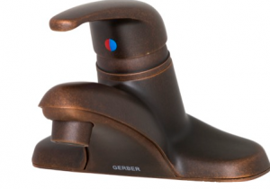 Gerber Maxwell 1H Lavatory Faucet w/ Brass Pop-Up Drain 1.2gpm Tumbled Bronze