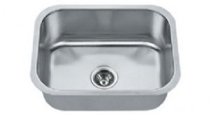 Madeli MG-2318 Stainless Steel Gold Undermount Single Bowl Kitchen Sink