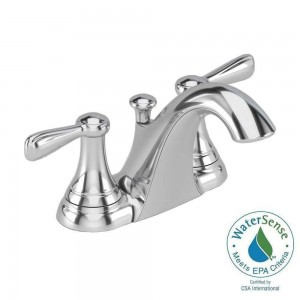 Marquette 7764CAF 4 in. Centerset 2-Handle Low Arc Bathroom Faucet in Polished Chrome
