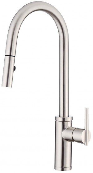 Danze DH455030SS Back Bay Trim Line 1 Handle Pull Down Kitchen Faucet, Stainless Steal