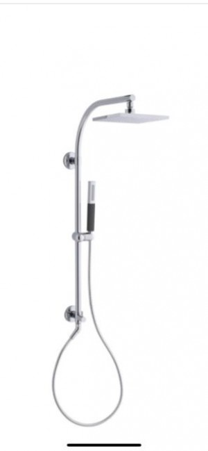 Kohler 45205-A-CP Arched HydroRail Kit Hand /Head Shower Kit, Polished Chrome
