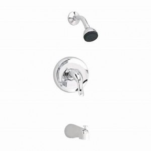 American Standard 1675 Cadet Single Handle Pressure Balanced Tub and Shower Faucet with Metal Lever Handles, Single Function Shower Head, 2.5 gpm and Scald Guard