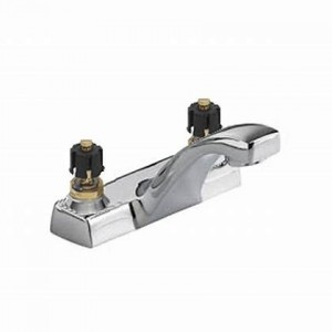 American Standard 5401.00.002 Heritage Centerset Lavatory Faucet Pop Up Drain Less Handles, Polished Chrome