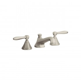 Grohe 20133ENA Somerset Widespread 2-Handle Bathroom Faucet, 1.2 GPM, Pop-Up Drain, Brushed Nickel