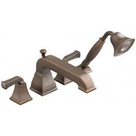 American Standard 2555921.224 Town Square 2Handle Tub Filler, 1.5 GPM, Hand Shower, Oil Rubbed Bronze
