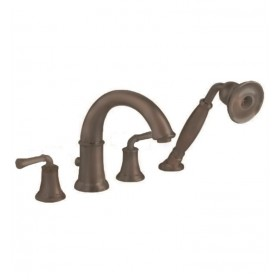 American Standard 7420.901.224 Portsmouth 2Handle Deck-Mount Tub Filler, Personal Shower, Oil Rubbed Bronze