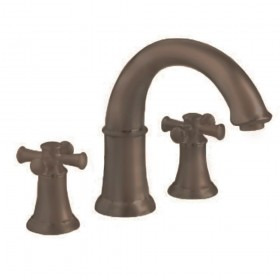 American Standard 7420920.224 Portsmouth Tub Faucet, Deck Mount, Cross Handles, Oil Rubbed Bronze