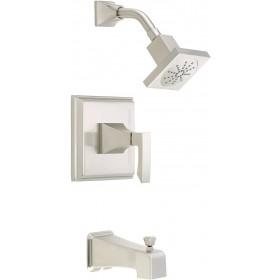 Danze D500036BNT Logan Square Tub and Shower Trim Kit, 2.5 GPM, Brushed Nickel, Valve Bundle